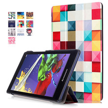 PU Stand Cover Case for Lenovo tab2 A8 (tab 2 A8-50 A8-50F A8-50LC) 8″ Tablet + 2Pcs Screen Protector