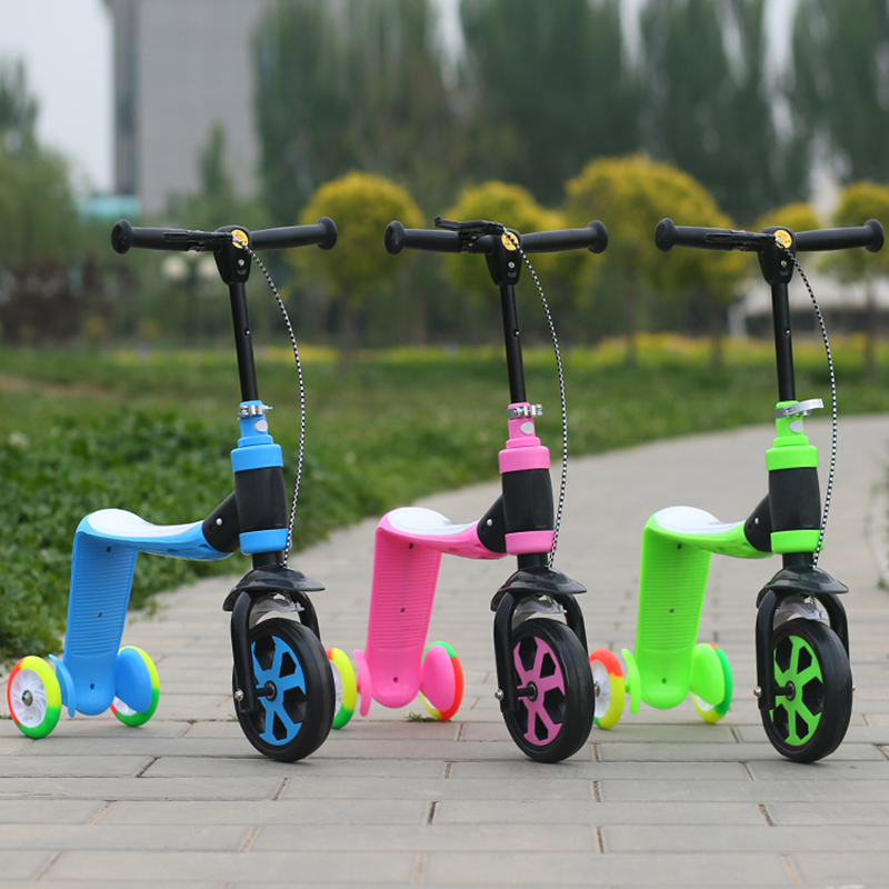 2017 Rushed Real Bicicleta Infantil Children Bike Ride Scooter 2 Uses Baby Driving Multifunctional Tricycle Outdoor