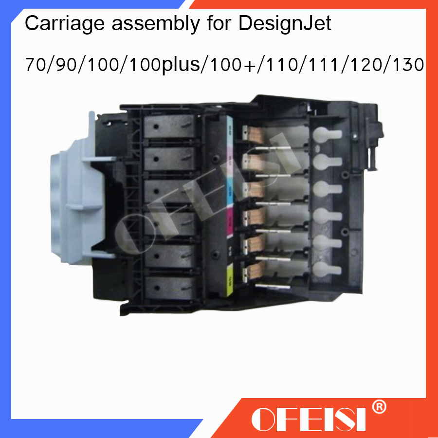 95% New original C7796-60205 C7796-60022 C7796-60077 Carriage assembly Designjet Applicable for HP100Puls 110Puls 111R 120 130 carriage assembly for hp designjet 70 100 110 hp business inkjet 2600 c7796 60022 c7796 60077 plotter part used
