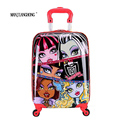 "16"" inch Children Luggage Suitcase,Child Kid Boy Girl Princess Cat  ABS Cartoon trolley case box Traveller Pull Rod Trunk"