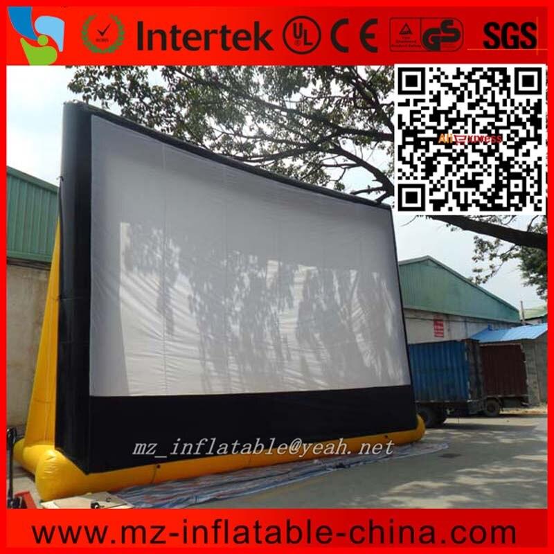 MZQM taille géante L9.8 * H7 m livraison gratuite en plein Air étanche à l'air gonflable écran de cinéma arrière-cour gonflable écran d'air