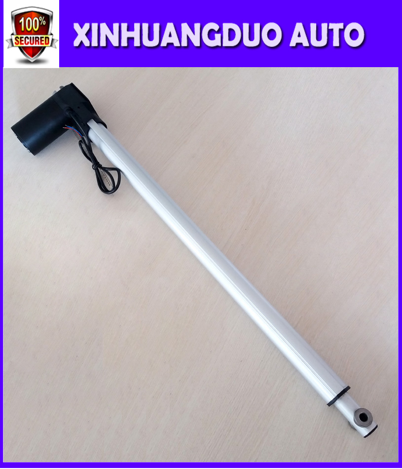 XINHUANGDUO 12v 1000mm 39 5inch electric linear actuator thrust 5000N 500KG 1100LBS tv lift Customized stroke