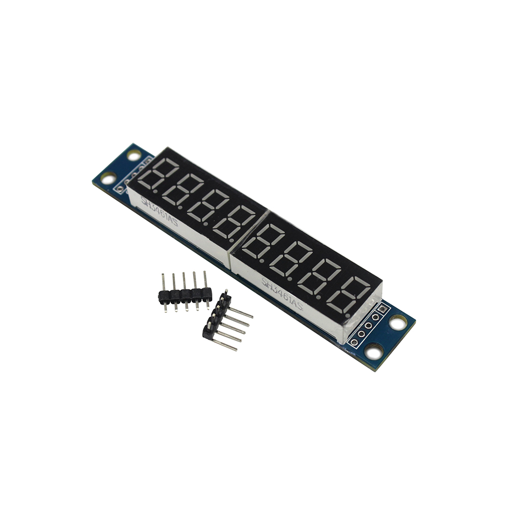 MAX7219 LED Dot Matrix 8 Digit Digital Tube Display Control Module 3.3V 5V Microcontroller Serial Driver 7-segmentMAX7219 LED Dot Matrix 8 Digit Digital Tube Display Control Module 3.3V 5V Microcontroller Serial Driver 7-segment