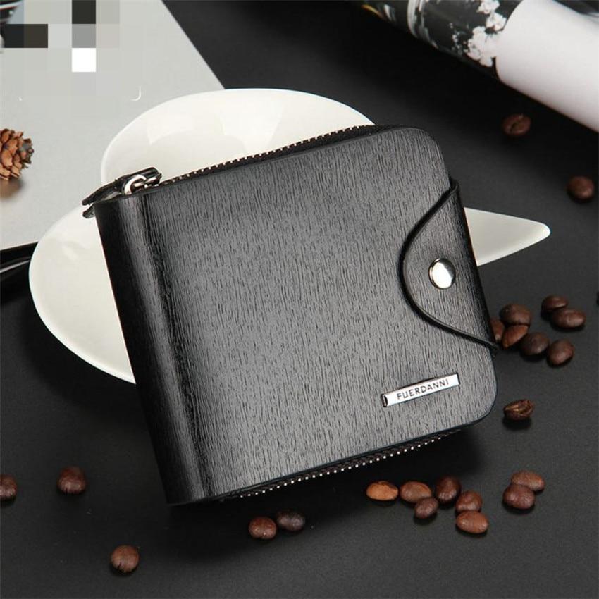 transer leather mens id card holder billfold zip purse
