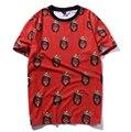 Nueva moda 2016 Mujeres de Los Hombres 3D impresión de la camiseta de América Del hip hop Estrella de rock Rapero Biggie Smalls carácter camiseta del verano tops
