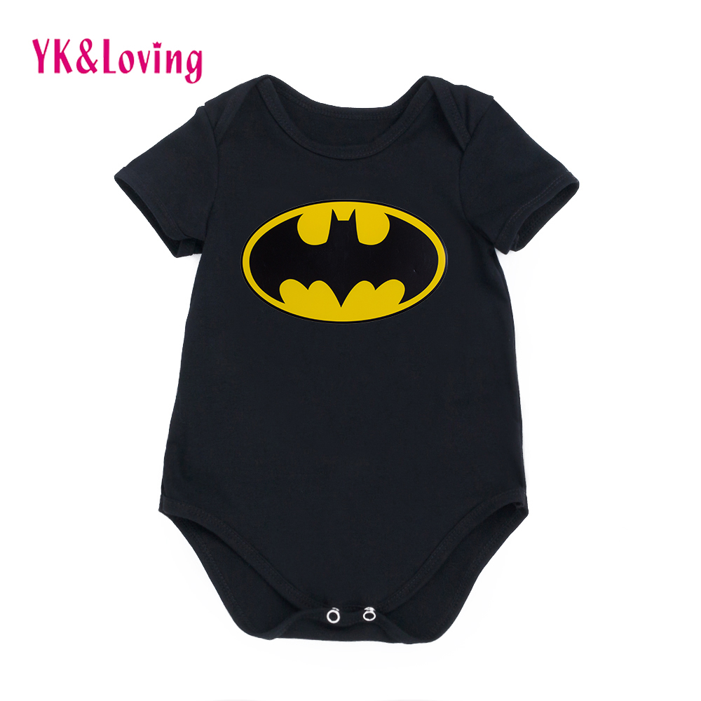 Batman Black Newborn Baby Boy Rompers Baby Clothes Cute Superman Short Sleeve Jumpsuit 2017 New Arrival Girls Outfits Set 2pcs set baby clothes set boy