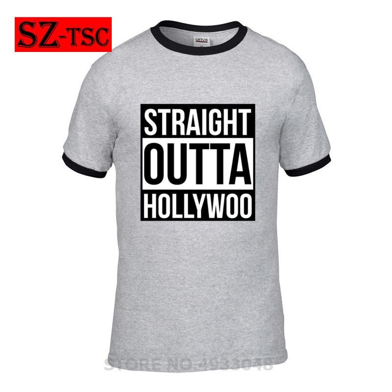 Men's Clothing Men T-shirt Straight Outta Hollywoo Bojack Horseman T Shirt Man Cute Tee Shirt Oversize Classic Print Short-sleeve Cotton Tshirt