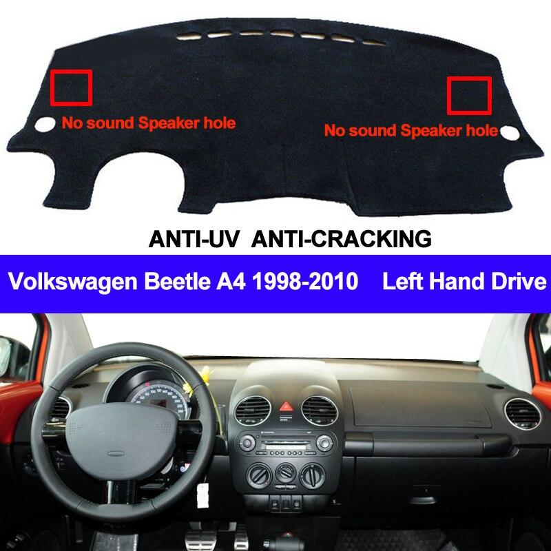 TAIJS Car Dashboard Cover Dash Mat For Volkswagen VW Beetle A4 1998-2005 2006 2007 2008 2009 2010 Non-slip Sun Shade Pad Carpet