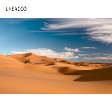 Laeacco Desert Blue Sky Clouds Scenic Portrait Photography Backgrounds Customized Photographic Backdrops For Photo Studio
