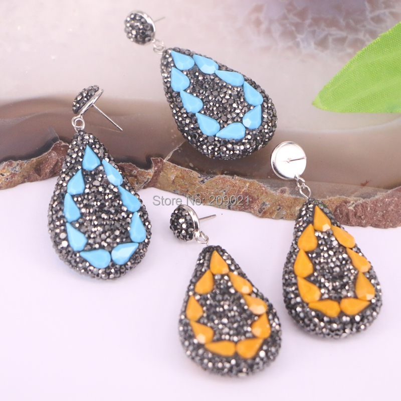 4pair Pave Rhinestone New   Hot Fashion Drop Dangle Earrings Jewelry Women