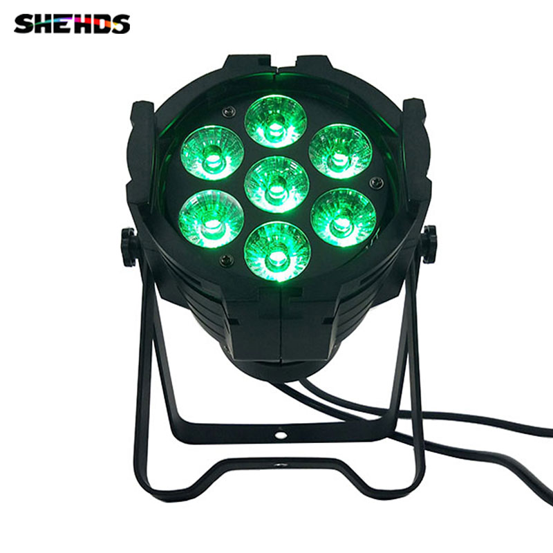 Illumination LED Can Par 7x18W Light Cast aluminum RGBWA+UV 6IN1 dmx512 stage lamp Profession For home entertainment DJ clubs top selling led par 7x18w rgbwa uv 6in1 stage profession dmx 512 effect lighting power in out for clubs theaters nightclub