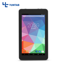Yuntab T7 negro 7 pulgadas Andriod 4.4 Tablet PC Quad Core de la pantalla táctil 1024*600 de Doble Cámara de $ number MP 0.3MP, 2200 mAh de la batería