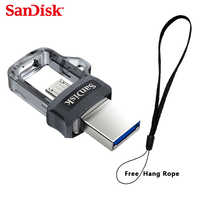 Original sandisk dupla otg usb flash drive de alta velocidade 150 m/s extremo usb3.0 pendrive 32 gb 16 gb 64 gb pen drives memória vara