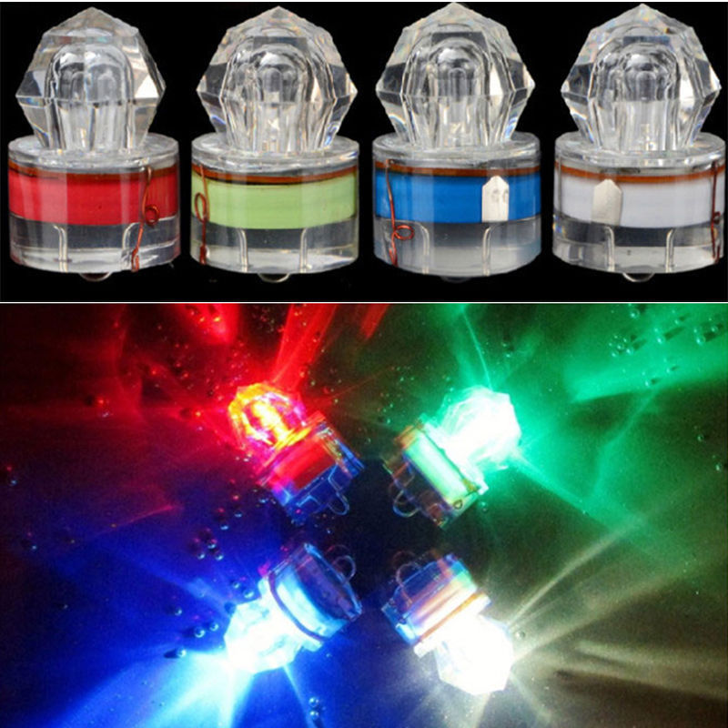 Colorful ABS Mini LED Waterproof Fishing Bait Light LED Deep Drop Underwater Fish Lure Lamp Lights Bait Lure Squid Strobe