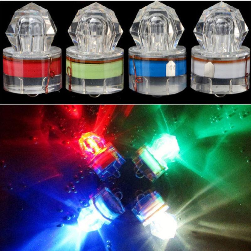 Colorful ABS Mini LED Waterproof Fishing Bait Light LED Deep Drop Underwater Fish Lure Lamp Lights Bait Lure Squid Strobe
