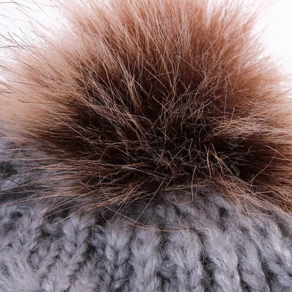 น่ารักเด็กวัยหัดเดินเด็กหมวกเด็กหญิงเด็กทารกฤดูหนาว Crochet อบอุ่นหมวกถัก 2018 ยี่ห้อหมวกขนสัตว์ Pom Pom หมวกเด็กหมวก 1030