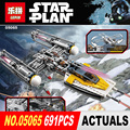 Lepin 05065 Nuevo 691 Unids Serie Star La Ordenada en el ala Starfighter Bloques de Construcción Ladrillos de Juguetes Educativos 75172