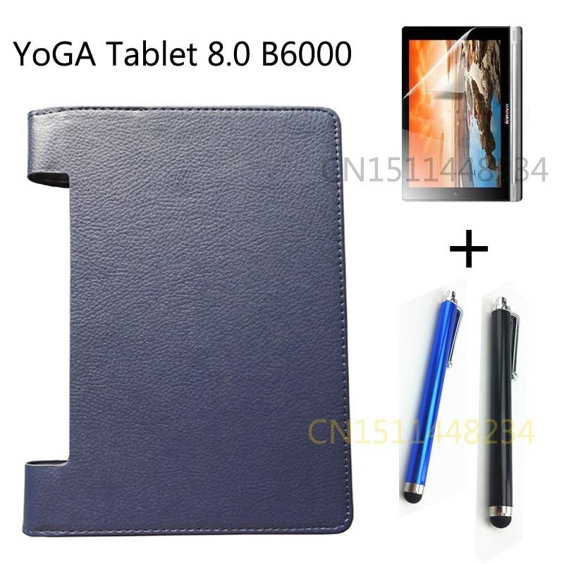 @1  мобильный планшет чехол Lenovo YOGA 8.0 B6000 искусственная кожа подставка чехол B6000-F темно-синий ✔