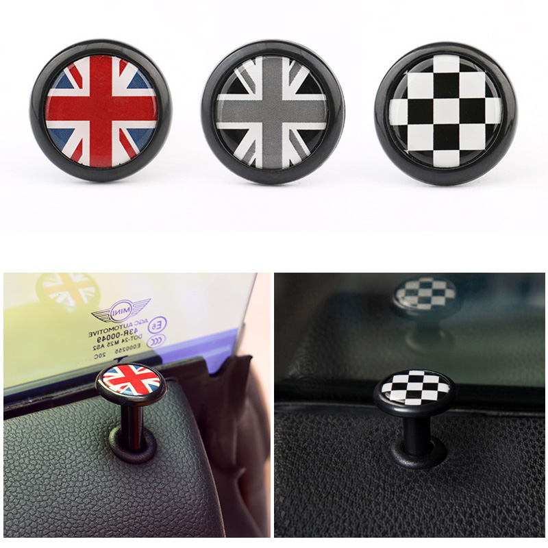 2PCS Car Styling ABS Refitting Door Pin Lock Decoration for MINI ONE Cooper R52 R53 R55