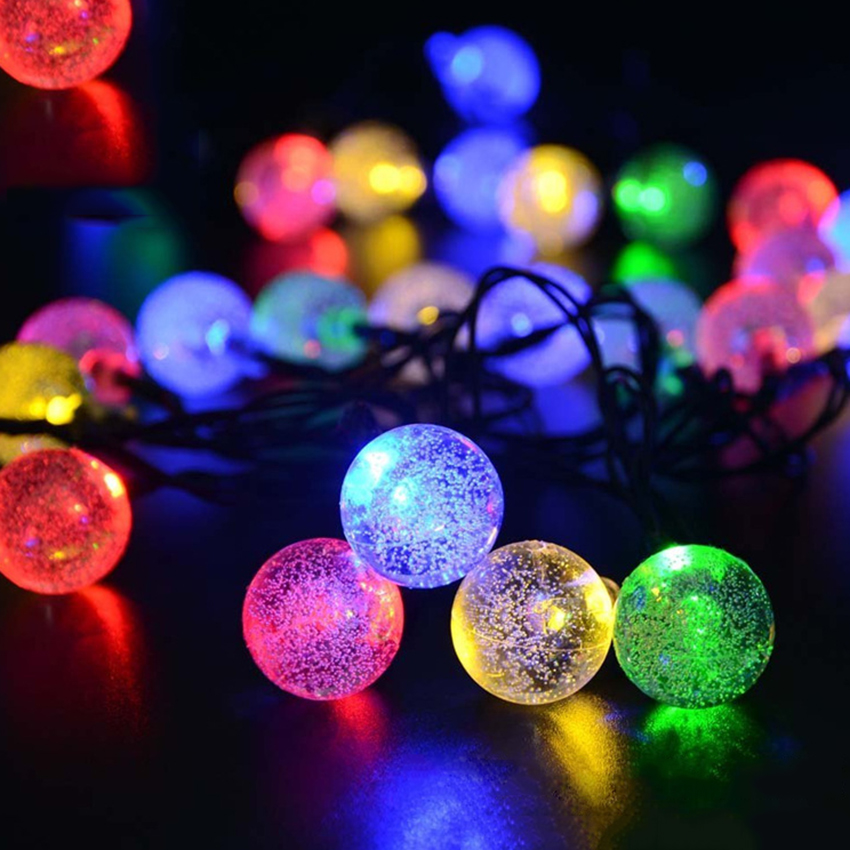 30 LED Solar Powered Luces de la Secuencia Para La Boda Fiesta de Navidad de Hal