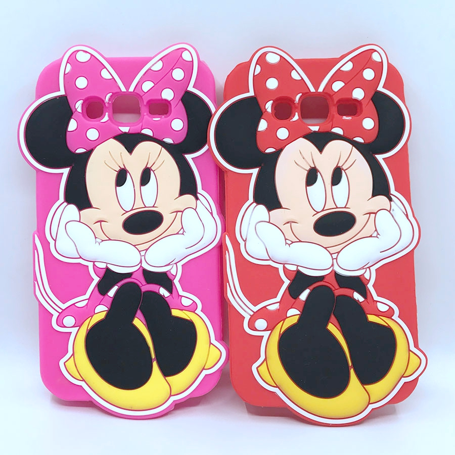 3D Cartoon Red Pink Minnie Mouse Case Silicone Cover For Samsung Galaxy 2015 2016 2017 A3 A5 A7 J1 J3 J5 J7 J2 Prime J5 J7 Prime