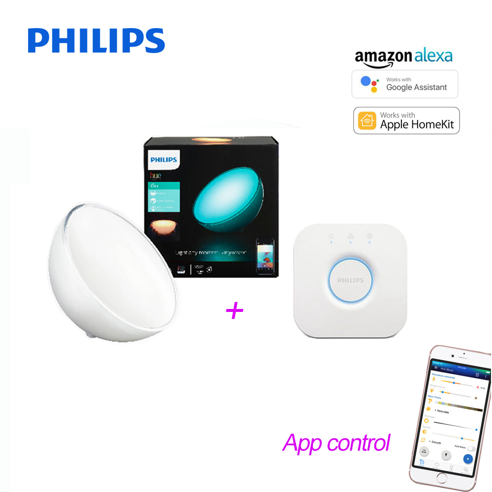 Philips Hue Bridge Homekit Us 165 51 2018 New Philips Hue Portable Dimmable Table Lamp Hue Bridges Compatible With Amazon Alexa Apple Homekit And Google Assistant In Led