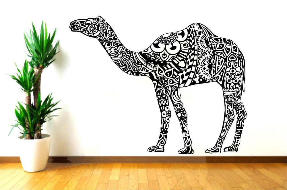 Camel Vinyl Wall Decal Animals Jungle Safari African Animal Camel Mural Art Wall Sticker Removeable Bedroom Home Decoration