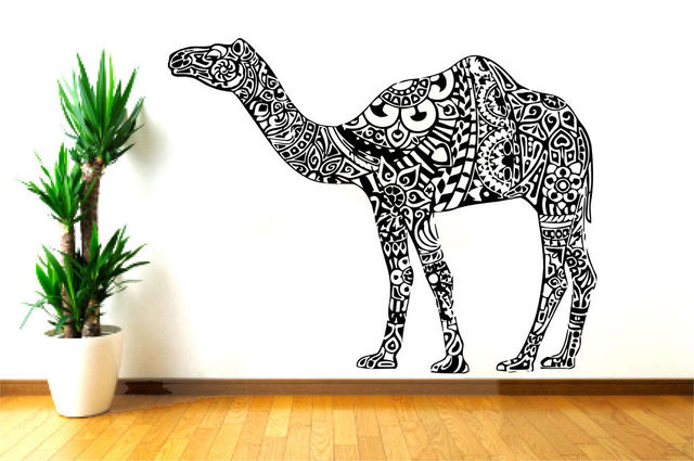 Camel Vinyl Wall Decal Animals Jungle Safari African Animal Camel - Vinyl wall decals animals
