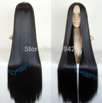Free Shipping Cosplay Wig 1 Meters Black Long Straight Hair Midsplit An Chinese Four Cos Wig