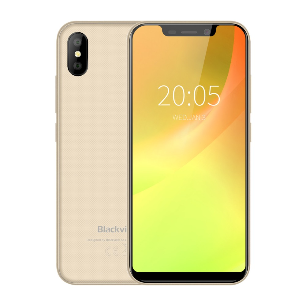 Blackview A30 5.5inch 19:9 Full Screen Smartphone MTK6580A Quad Core 3G Face ID Mobile Phone 2GB+16GB Android 8.1 Dual SIM image