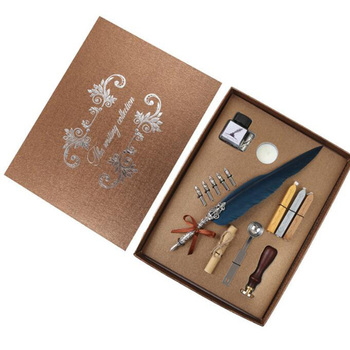 Action figure toy harri  potter Dip Pen Writing Ink Set Stationery Gift Box with 5 Nib Wedding Gift Quill Pen Fountain Pen New
