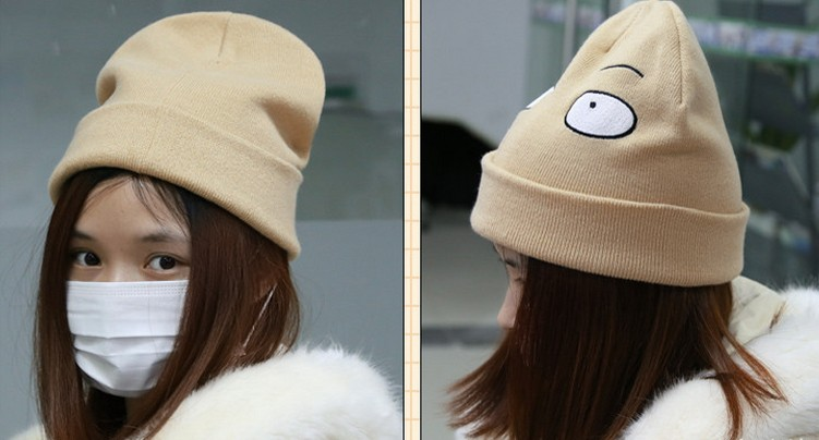 6167f938bc7 HTB1IxosQFXXXXbGXXXXq6xXFXXXQ Mr.Kooky Cute Funny One Punch Man Bald Saitama  Knitted Hat Men Women Casual
