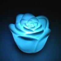 20 Cái Thay Đổi 7 Colors Rose Flower LED Night Light Candle Ánh Sáng