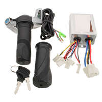 DC 24V 500W Brushed Controller Electric Scooter Throttle Twist Grips Power Display Set