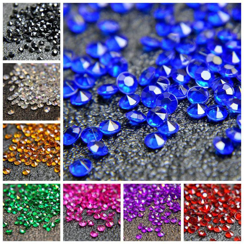 1000pcs 3mm Wedding Craft Diamond Table Scatters Acrylic Crystal Center Events Party Festive Accessories Happy Sale ap519