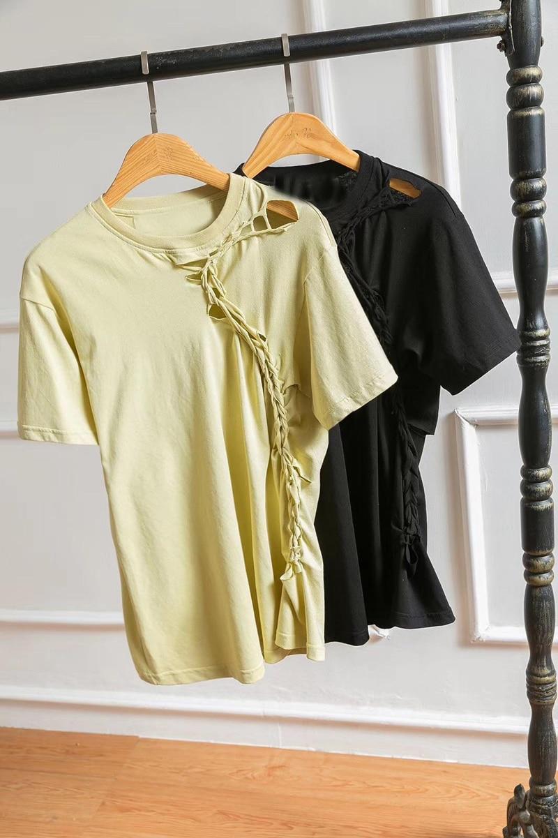3 shirt T Femmes Mode Couleur 2 Trou 04 Tee Rmsx PngFx8Fqt