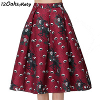 12 OAKS OF KATY Europe And America Women Fashion High Waist Puff Hem A Line Skirt