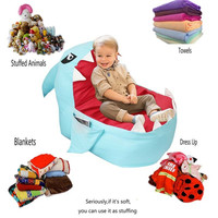 Multi function Doll Plush Toy Storage Bag Creative Portable Zipper Storage Bag Children Foldable Toy Storage Bag Sofa Chair