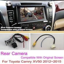 Для Toyota Camry XV50 2012 ~ 2015/RCA & Оригинальный Экран Совместимость/автомобильная Камера Заднего вида Комплектов/HD Резервное Копирование Обратный камера