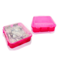 Pink Multifunction Plastic Cover Solid Durable Transparent Stationery Thicken Simple box WH19