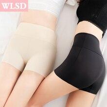 WLSD женские шорты безопасности штаны Бесшовные Нейлоновые Трусики с высокой талией бесшовные анти опорожненные шорты для мальчиков штаны для девочек нижнее белье для похудения