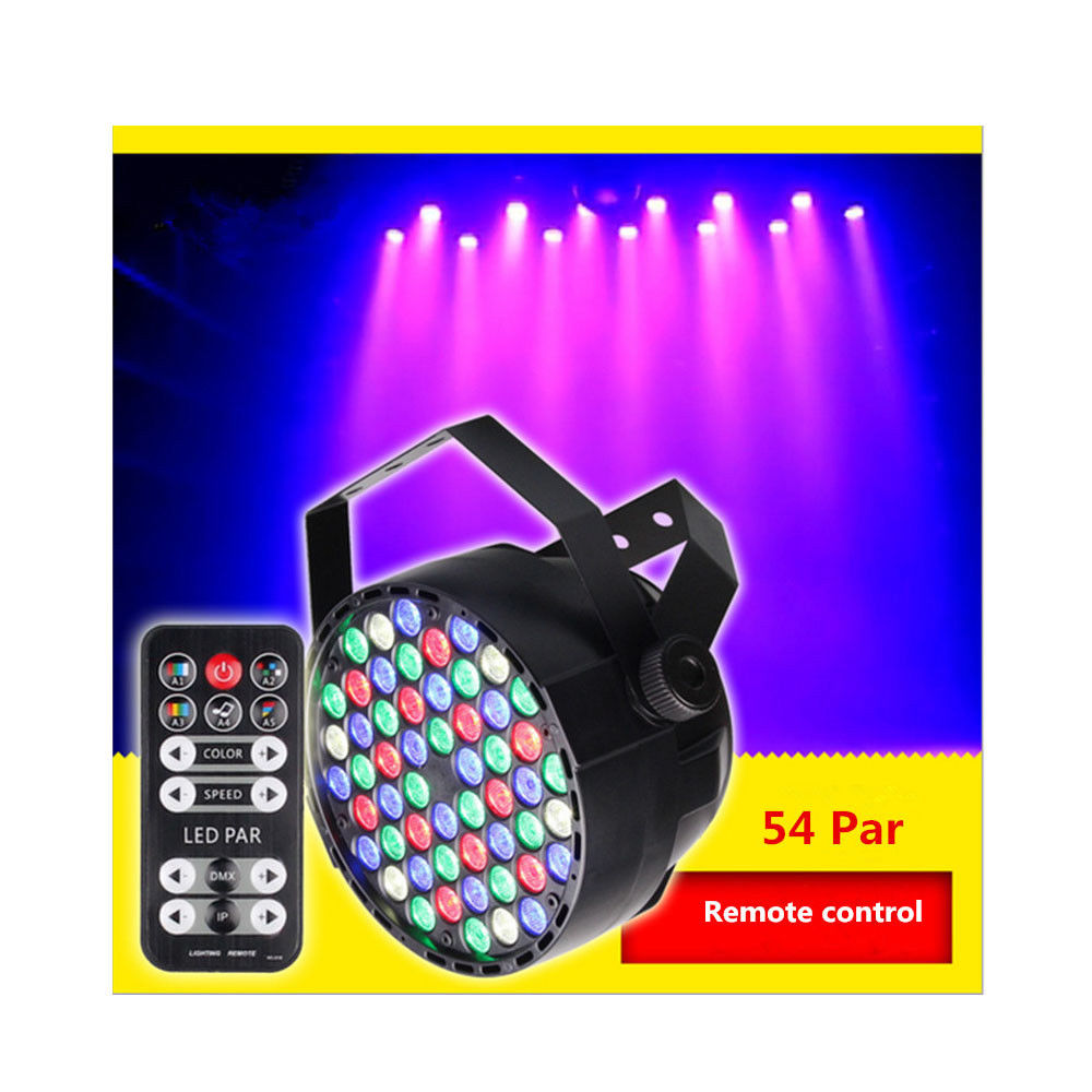 MIFXIN 40W 54LED 8Channel RGB Light Stage Effect Lamp Support DMX-512 Sound Activated Strobe Dimmable for Xmas Party