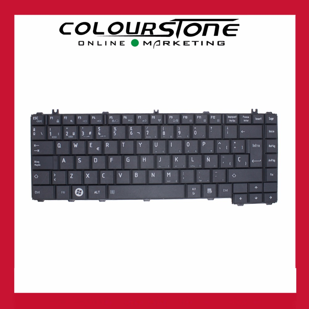 For Toshiba Satellite L600 L600d L605 L605d L630 L640 L640d Keyboard Lcd Led Laptop C600 C640 L645 L740 L745 Spanish Teclado Black Big Enter 9zn4vsq001 In Replacement Keyboards From