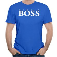 Like A Boss Cotton Printing O-Neck Short Customized T-shirts for Men Tie Dye Royal Blue T shirts Christmas gift