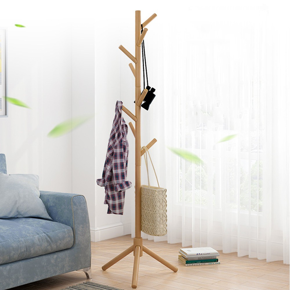 2019 Hot New Products Coat Rack Hanger Floor Bedroom Multi-function Rack Simple Clothes Rack Home Coat Rack Tree Hangers