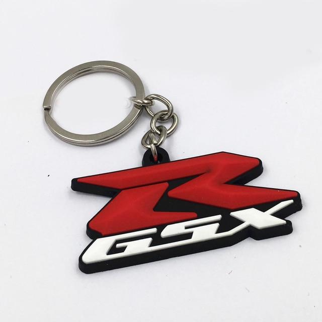 MOTORRAD Gummi Symbol Logo Keychain Schlusselanhanger Ring Fur SUZUKI GSX R GSXR R600