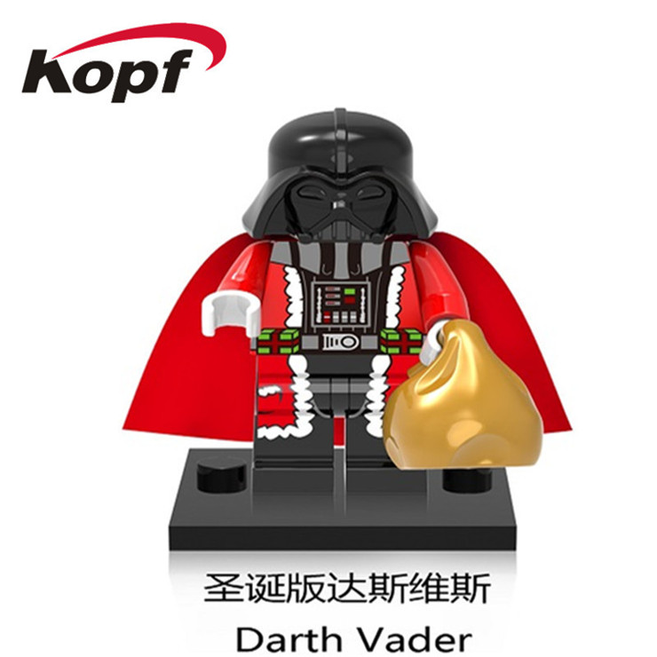 50Pcs XH 458 Super Heroes New Christmas Darth Vader Old Granny C3PO Building Blocks Education For Children Christmas Gift Toys