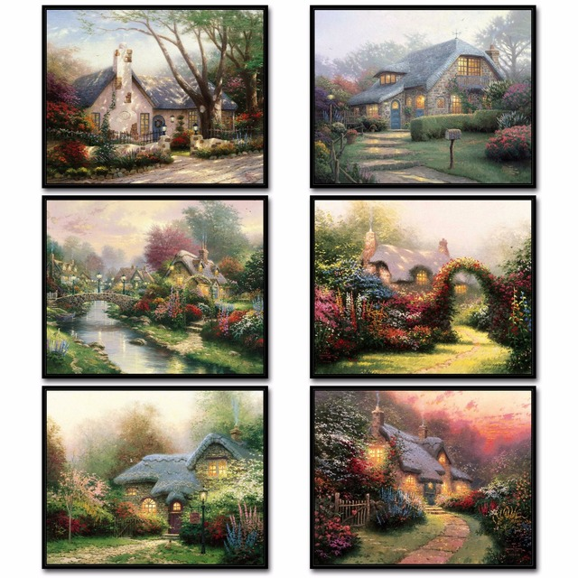 Delicieux Thomas Kinkade Garden Canvas Painting, Poster, HD Posters And Prints, Wall  Pictures For