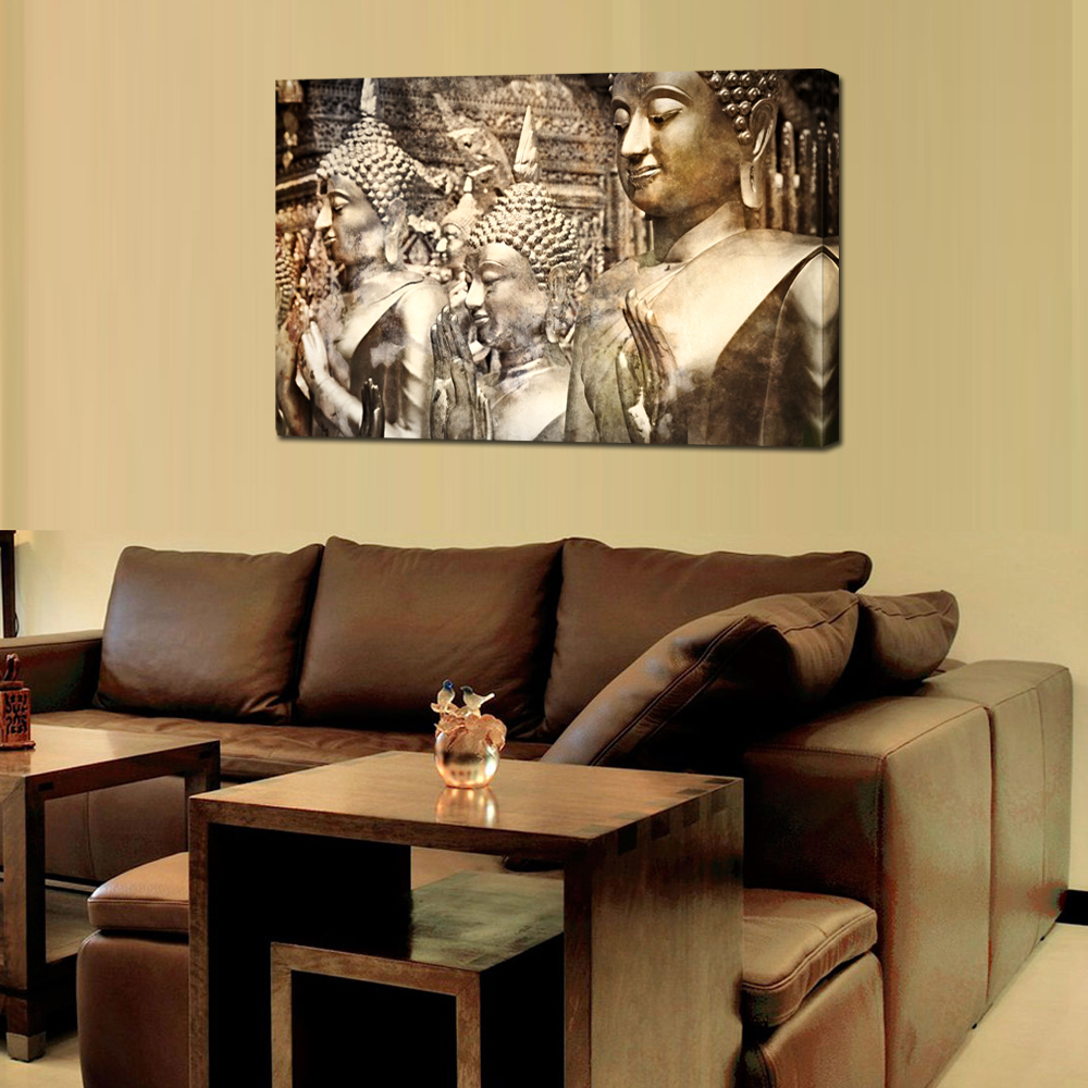 Canvas Prints Giclee Artwork for Wall Decor,Vintage Religion Buddha ...