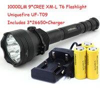 UniqueFire UF T09 9 X Cree XM L T6 LED 4 Mode 10000 Lumens Flashlight Use